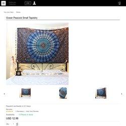 Ocean Peacock Small Tapestry