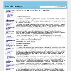 Siglos XIX y XX: Asia, África y Oceanía - Historia Universal