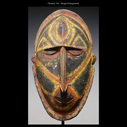 Oceanic Art - Wood yam mask