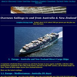 The Cruise People Ltd [Trans-Oceanic Passenger Service to Australia and New Zealand]