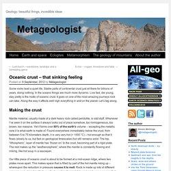Oceanic crust – that sinking feeling