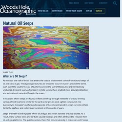 Natural Oil Seeps : Woods Hole Oceanographic Institution