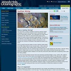 Seafloor Mining : Woods Hole Oceanographic Institution