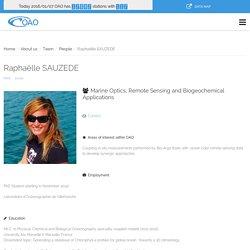 Raphaëlle SAUZEDE - OAO - Oceanographic Autonomous Observations