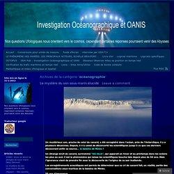 INVESTIGATION OCEANOGRAPHIQUE ET OANIS
