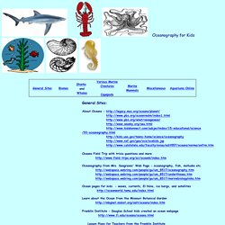 Oceanography Sites