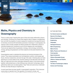 Maths, Physics and Chemistry in Oceanography