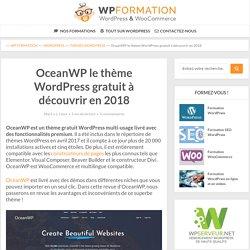 OceanWP LE thème WordPress Gratuit à découvrir en 2018