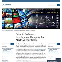 Ochsoft: Software Development Company that Meets all Your Needs « ochsoft