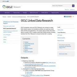 OCLC Linked Data Research