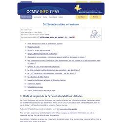 ocmw-info-cpas - Différentes aides en nature