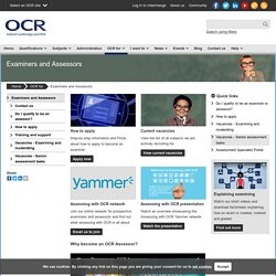 OCR for Examiners and Assessors