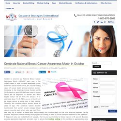 October - National Breast Cancer Awareness Month