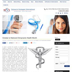 October is National Chiropractic Health Month