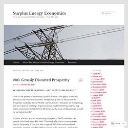 Surplus Energy Economics