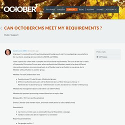 Can OctoberCMS Meet My Requirements ? - October CMS