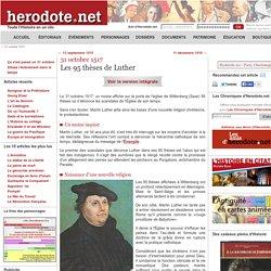 31 octobre 1517 - Les 95 thèses de Luther