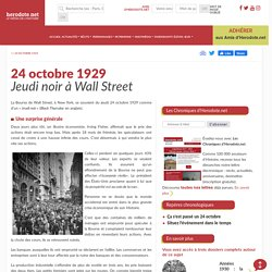 24 octobre 1929 - Jeudi noir à Wall Street