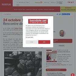 24 octobre 1940 - Rencontre de Montoire - Herodote.net (vidéo)