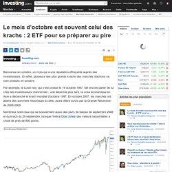 Le mois d'octobre est souvent celui des krachs : 2 ETF pour se préparer au pire