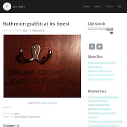 Drunk Octopus Wants to Fight You Bathroom Graffiti