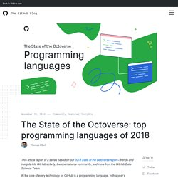 The State of the Octoverse: top programming languages of 2018