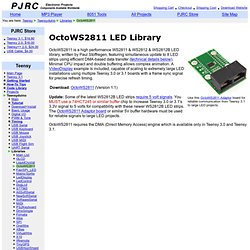 OctoWS2811 LED Library, Driving Hundreds to Thousands of WS2811 LEDs with Teensy 3.0