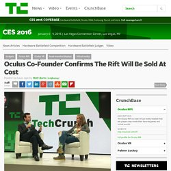 Oculus Co-Founder Confirms The Rift Will Be Sold At Cost