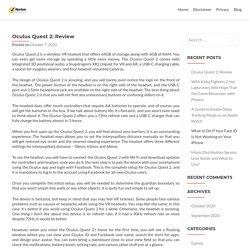 Oculus Quest 2: Review - Norton Setup