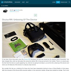 Oculus Rift: Unboxing Of The Device: allvrinfo