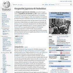 Ocupación japonesa de Indochina