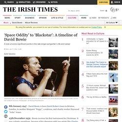 'Space Oddity' to 'Blackstar': A timeline of David Bowie