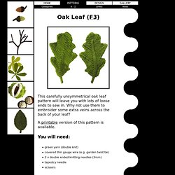 Free Knitting Patterns - Oak Leaf
