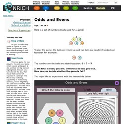 Odds and Evens nrich.maths.org