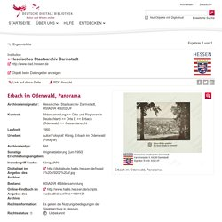 Erbach im Odenwald, Panorama - Deutsche Digitale Bibliothek
