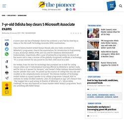 7-yr-old Odisha boy clears 5 Microsoft Associate exams