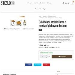 Odkládací stolek Dimo s masivní dubovou deskou Steelo.cz