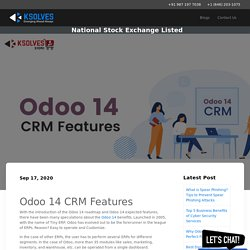 Odoo 14 CRM Expected Features
