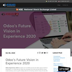 Odoo's Future Vision in Experience 2020
