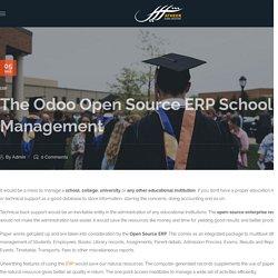The Odoo Open Source ERP School Management
