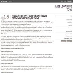 Krzesła biurowe -odpowiedni rodzaj zapewnia właściwą postawę - meblegabinetow - bloog.pl