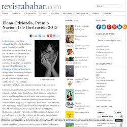 Elena Odriozola, Premio Nacional de Ilustración 2015