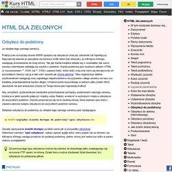 Odsyłacz do podstrony - HTML dla zielonych