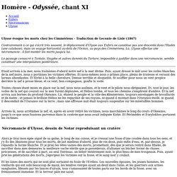 La nekyia d'Ulysse - Odyssée, chant XI - Traduction de Leconte de Lisle (1867)