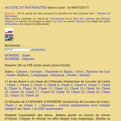 L'ODYSSÉE D'HOMÈRE (traduction de Leconte de Lisle)
