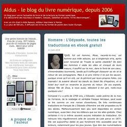 Homère : L'Odyssée, toutes les traductions en ebook gratuit