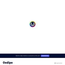 Mythologie : Oedipe le maudit ! 3e et +