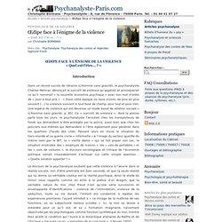 Œdipe face à l'énigme de la violence - Psychanalyste-Paris.com