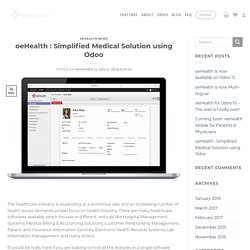 oeHealth : Simplified Medical Solution using Odoo