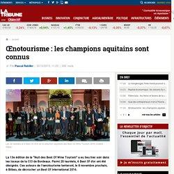 Œnotourisme : les champions aquitains sont connus